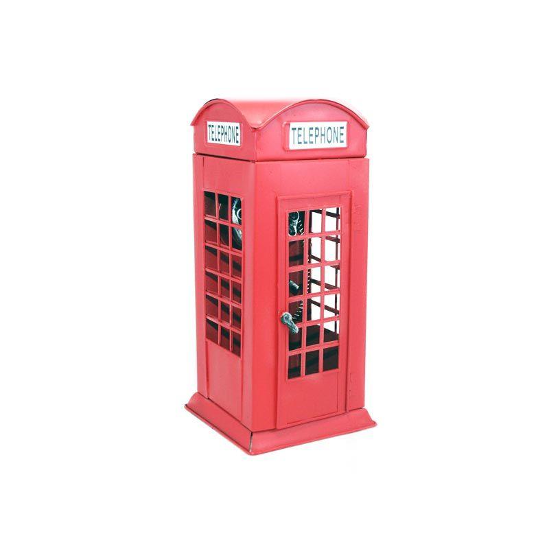 Olday Box Telephone AN-KU001 Merah Hiasan Miniatur