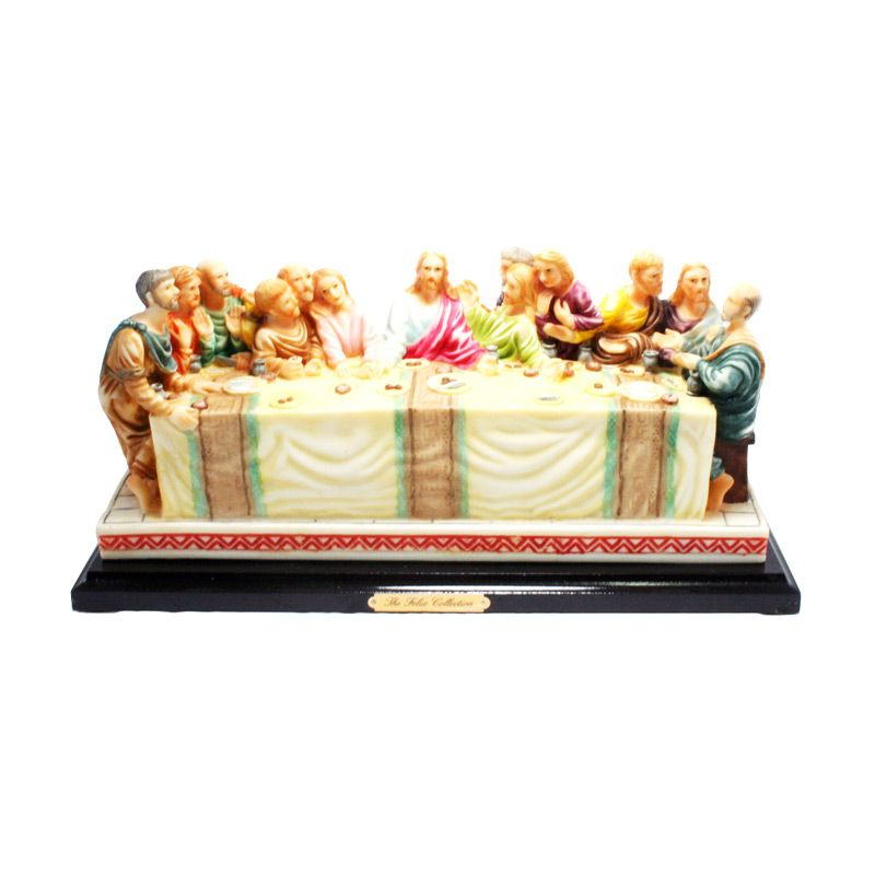 Olday 3D Home Decor EV-SP3619 The Last Supper Dining Table Patung Keramik
