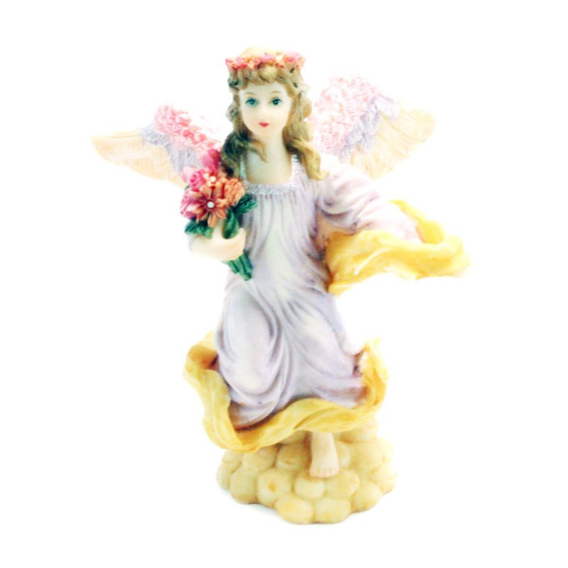 Olday 3D Home Decor EV-SP3736A Pretty Cupid Patung Keramik