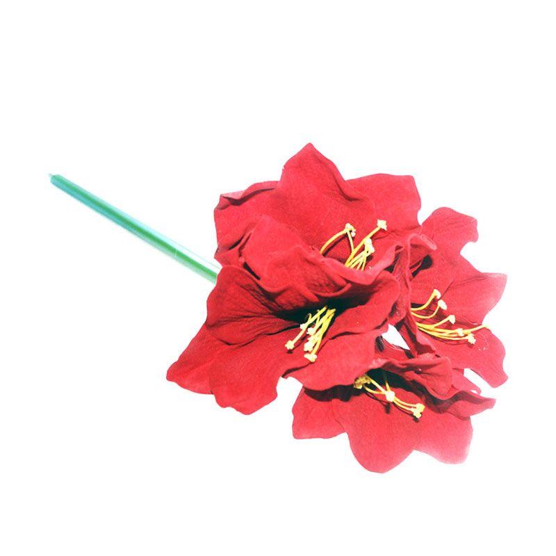 Olday Amarilis AN-B000079 Merah Bunga Artifisial
