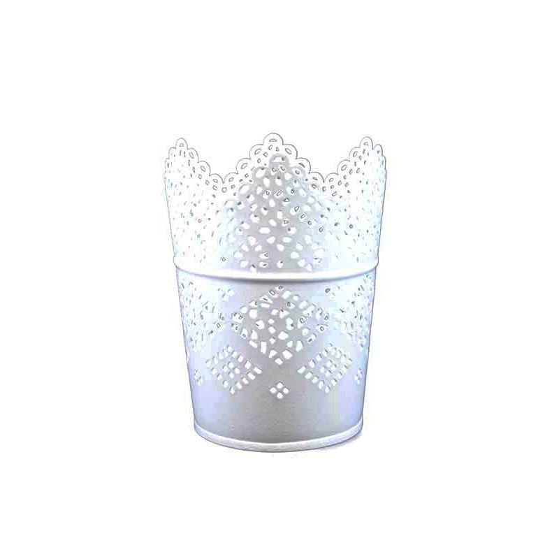 Olday Kaleng AN-VB0113 Putih Vas Bunga [Size S]