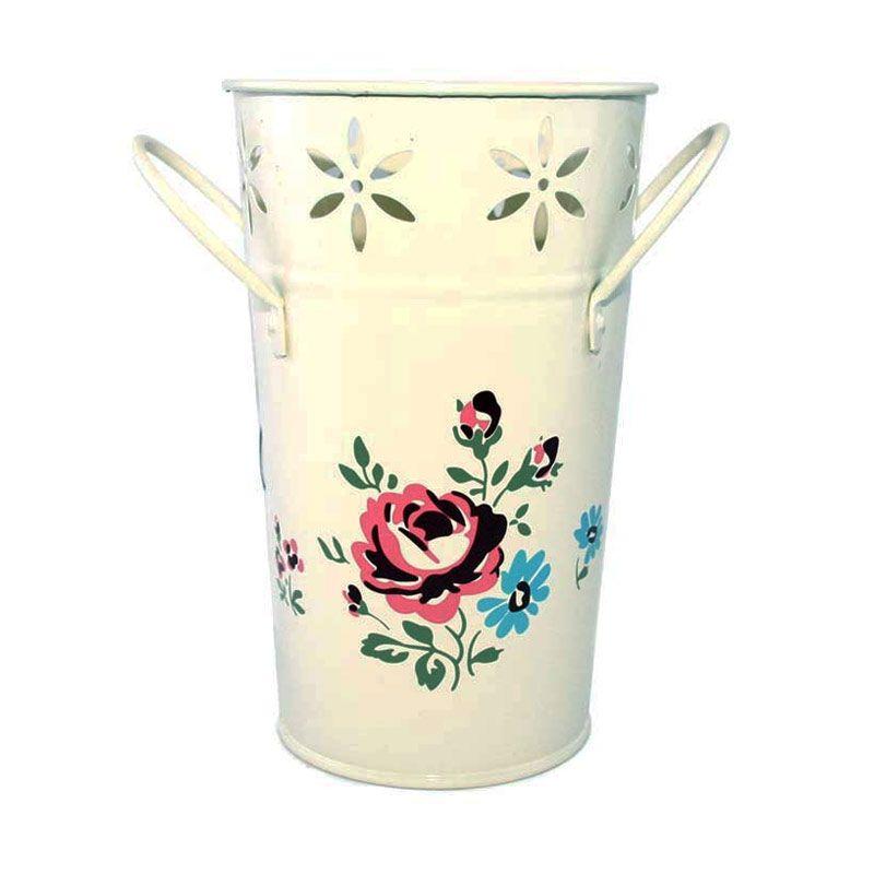 Olday Kaleng AN-VB0033 Cream Vas Bunga
