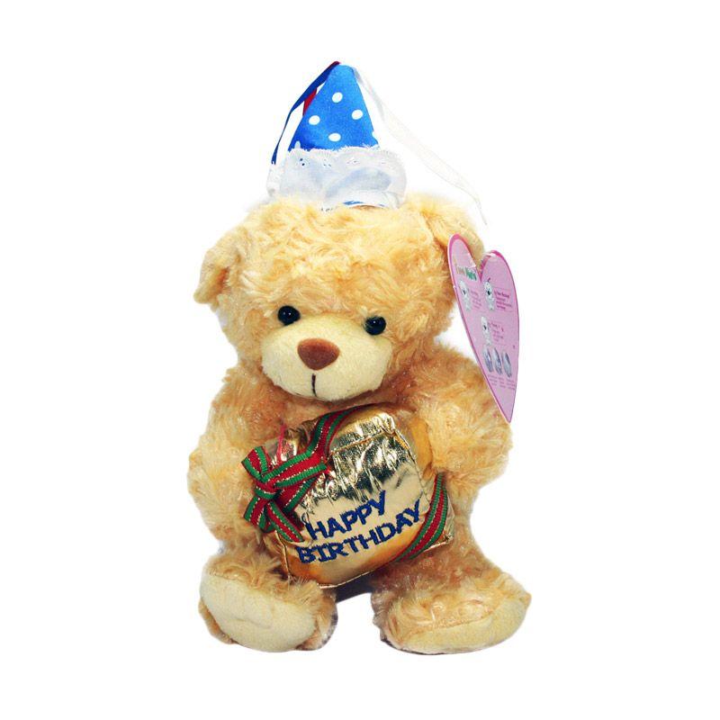 Olday Beruang dengan Balon Boneka Perekam Suara
