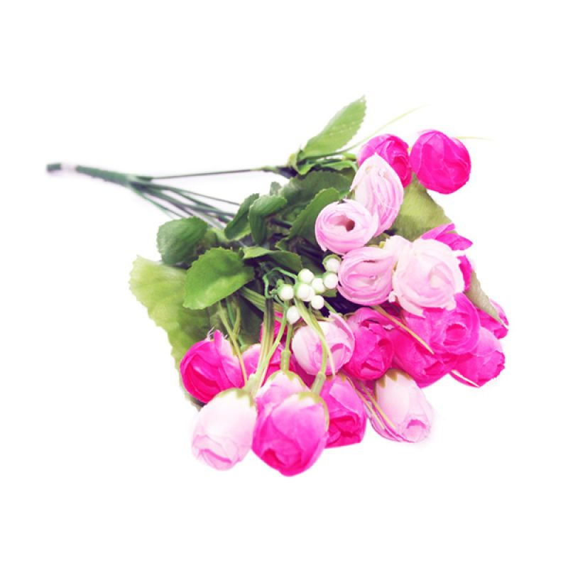 Olday Home Rose AN-B000318 Pink Muda Bunga Artifisial