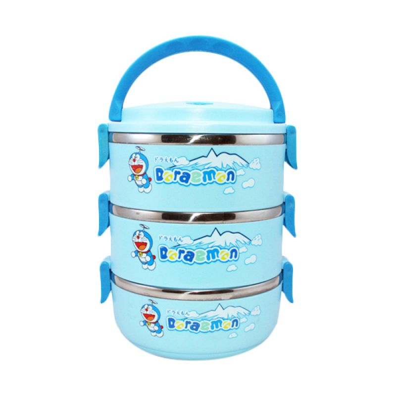 Olday Home Doraemon KO-LB304-DR Biru Lunch Box Kotak Makan [3 Susun]