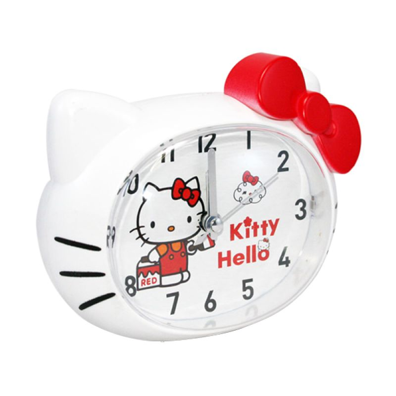 Olday Home Hello Kitty MS-BY068 Merah Jam Alarm