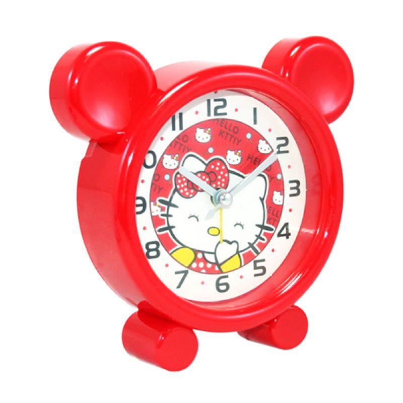 Olday Home Hello Kitty MS-XLL9803 Merah Jam Alarm