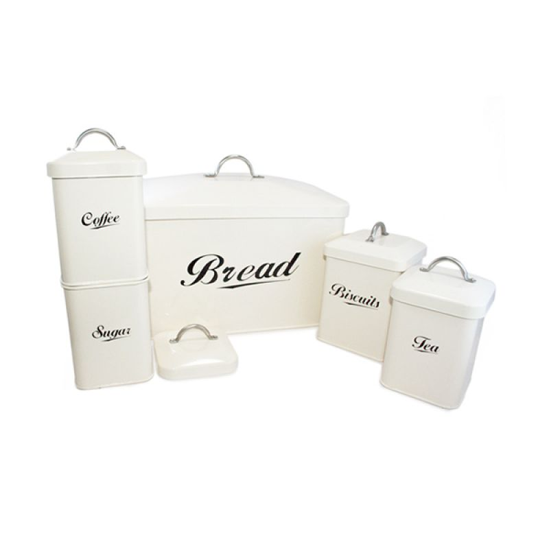 Olday Home Jars Kitchen Storage AN-VB0223 Putih Set Toples Dapur Multifungsi [5 Pcs]