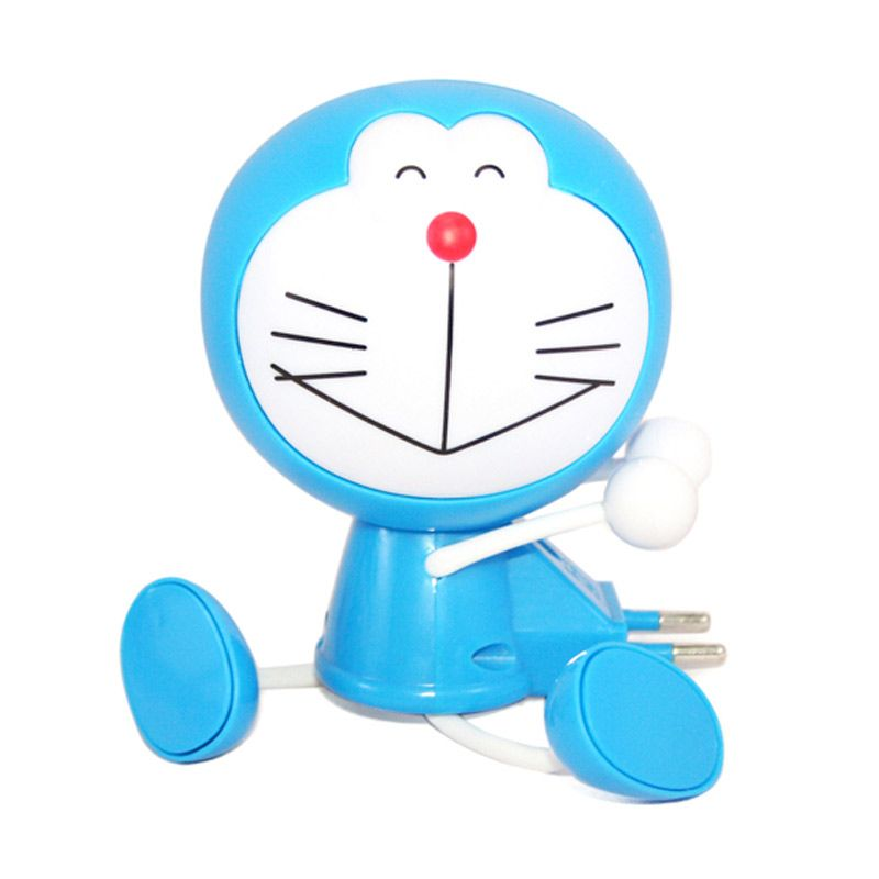 Olday Home LED MS-YW04 DORAEMON Biru Lampu Meja