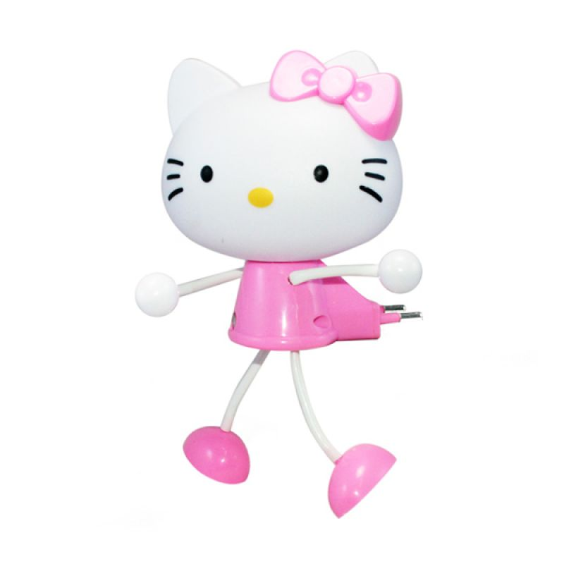 Olday Home LED Photoreceptor Hello Kitty MS-YW01 Pink Lampu Tidur