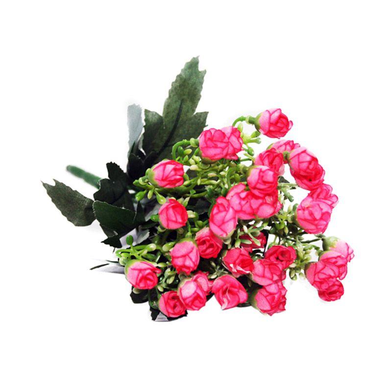 Olday Home Rose Kuncup AN-B000335 Pink Muda Bunga Artifisial