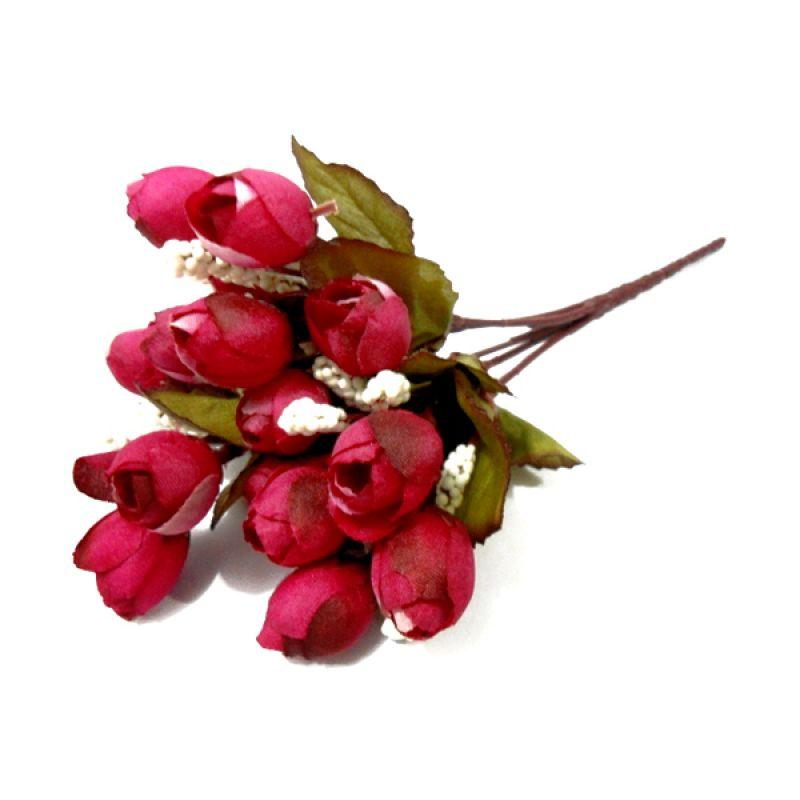 Olday Home ANB000319A Rose Merah Bunga Artifisial