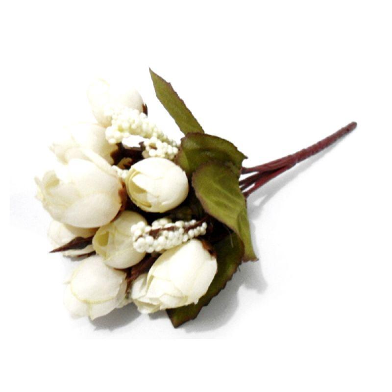 Olday Home ANB000319P Rose Putih Bunga Artifisial