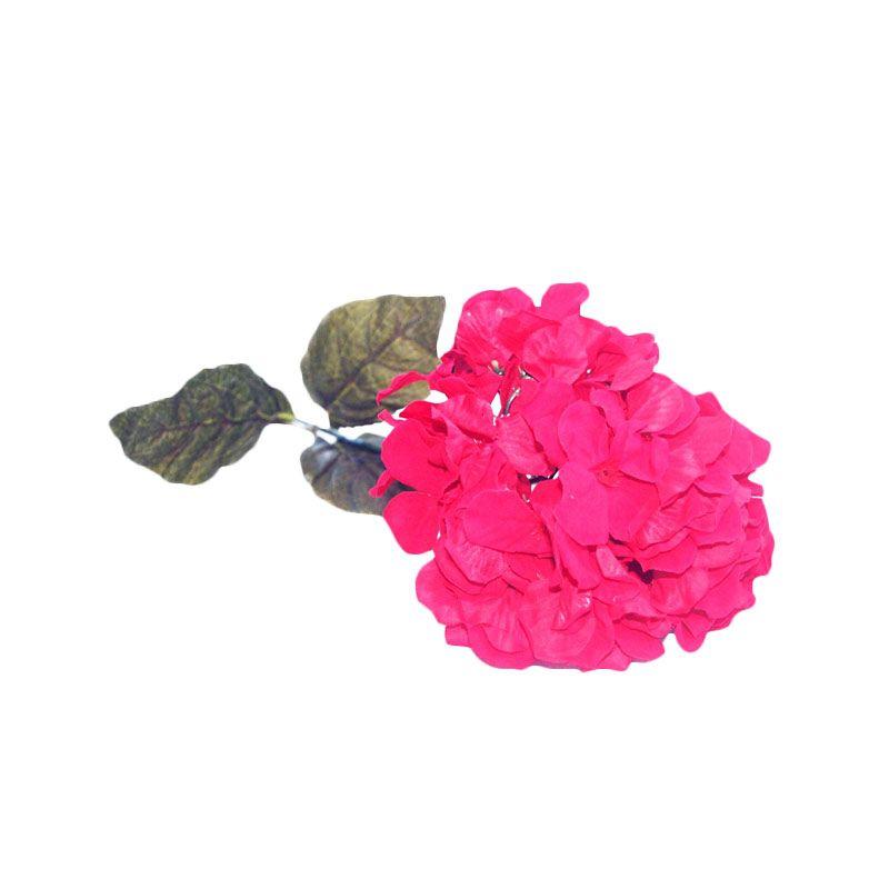 Olday Hortensia AN-B000315M Merah Bunga Artifisial