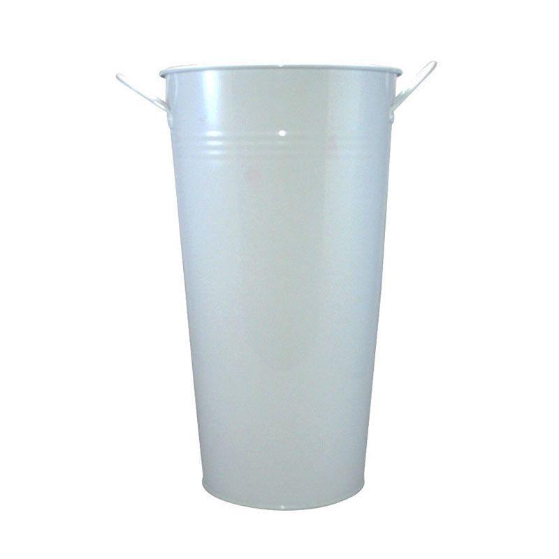 Olday Kaleng AN-VB0120L Putih Vas Bunga [Size L]
