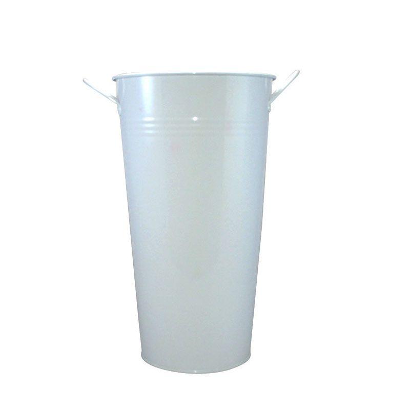 Olday Kaleng AN-VB0120S Putih Vas Bunga [Size S]