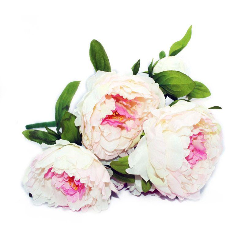 Olday Mawar Piony ANB000247P Pink Bunga Artificial