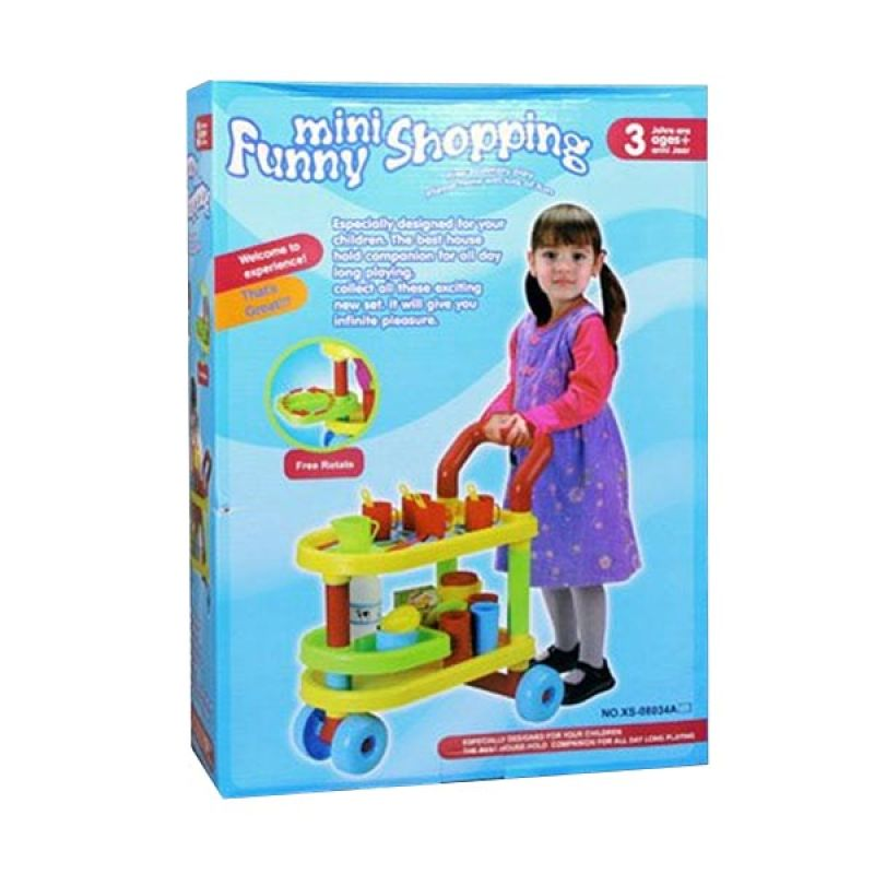 Olday Mini Funny Shopping Trolley Toy