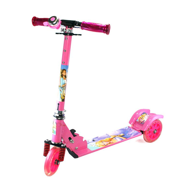 Olday PA-XZX388 Barbie Pink Skuter Anak