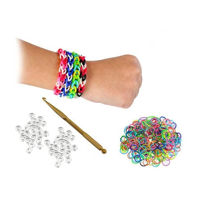 Olday Toys Loom Bands Rainbow Rubber Bracelet Kit DIY