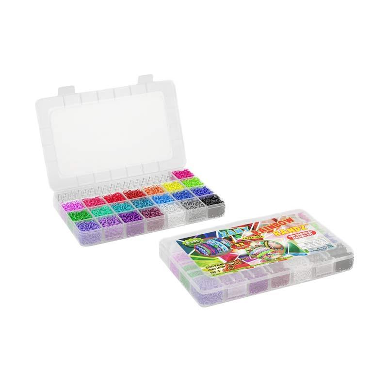 Olday Toys Rainbow Loom Super Jumbo Box 3000 Karet Pro Kit DIY Loom Bands Rainbowloom - LV