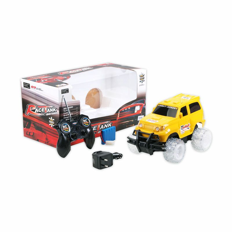 Olday Toys Radio Control Car Race Tank 4WD King - Yellow - 9473589
