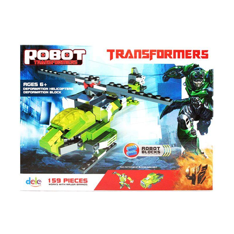 Olday Toys Robot Transformers Helicopter - EV-E688387 - Permainan Blok