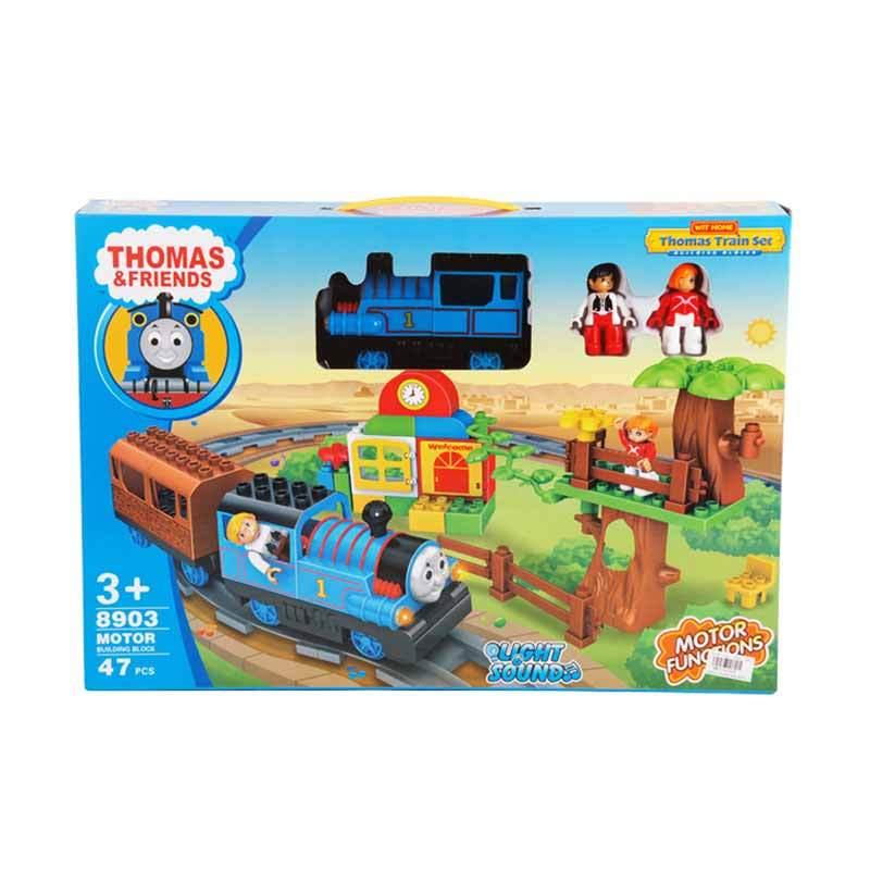 Olday Toys Thomas Train Set Motor Functions with Light & Sound Mainan Kereta - C185505