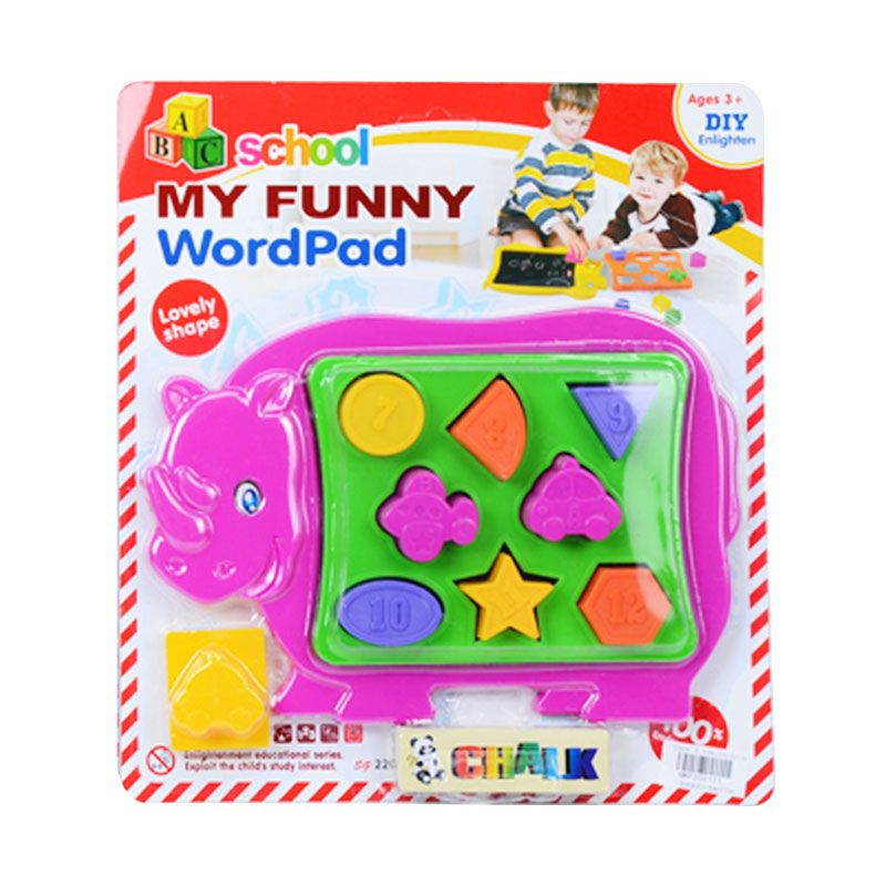 Otoys ABC School My Funny Wordpad PA-F300171 Pink Mainan Anak