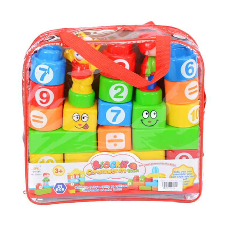 Otoys Blocks Construction Team PA-F535512 Mainan Anak [21 Pcs]