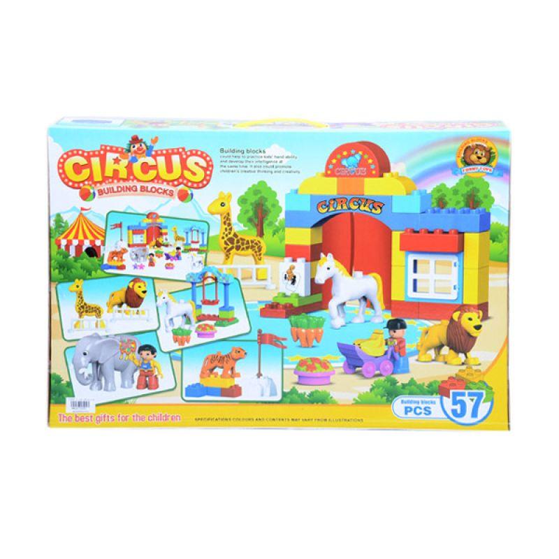 Otoys Circus Building Blocks Big Box Lego PA-E810283 Mainan Anak [57 Pcs]