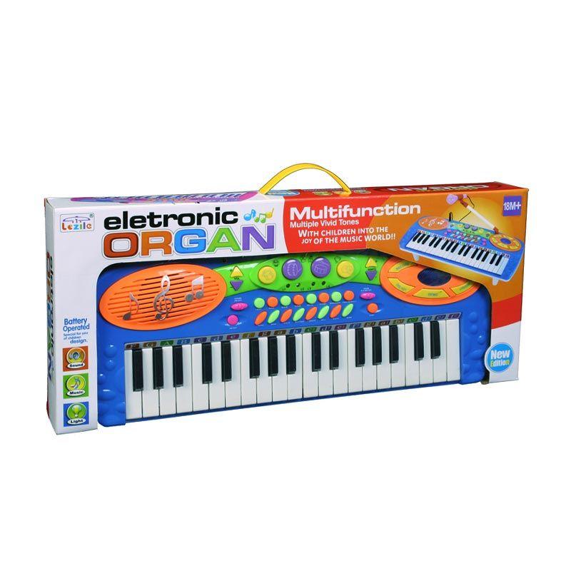 Otoys 8760771 Electronic Organ Keyboard Multifunction & Musical Tunes Biru Mainan Anak