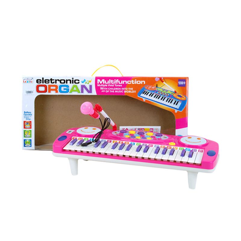 Otoys 8760771 Electronic Organ Keyboard Multifunction & Musical Tunes Pink Mainan Anak