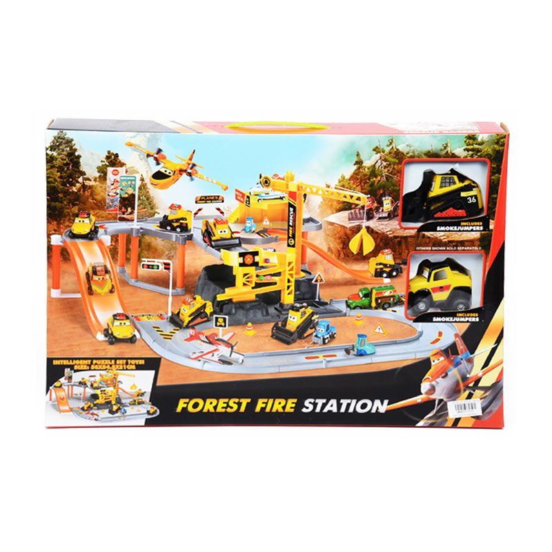 Otoys PA-E691438 Forest Fire Station Track Set Mainan Anak