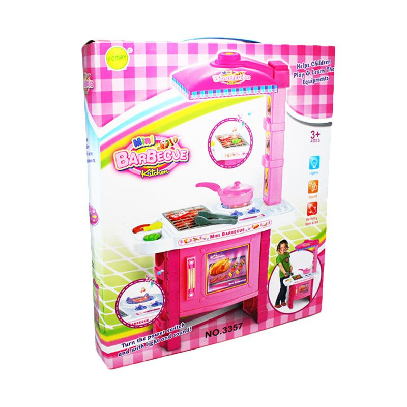 Otoys PA-207490 Mini Barbeque Kitchen Set With Lampu & Suara  Mainan Anak
