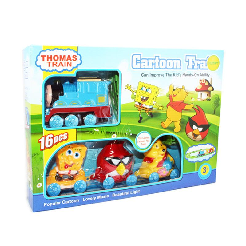 Otoys Thomas Train Cartoon Spongebob Angrybirds Winnie The Pooh PA-348803 Mainan Anak