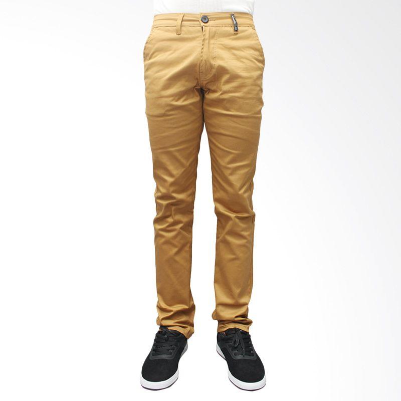 Oliveinch Long Chino Light Brown Celana Panjang Pria