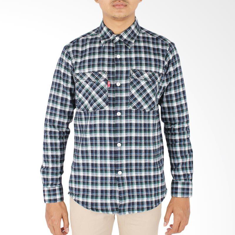 Oliveinch Series 1 Flanel Shirt Gloomy Kemeja Pria