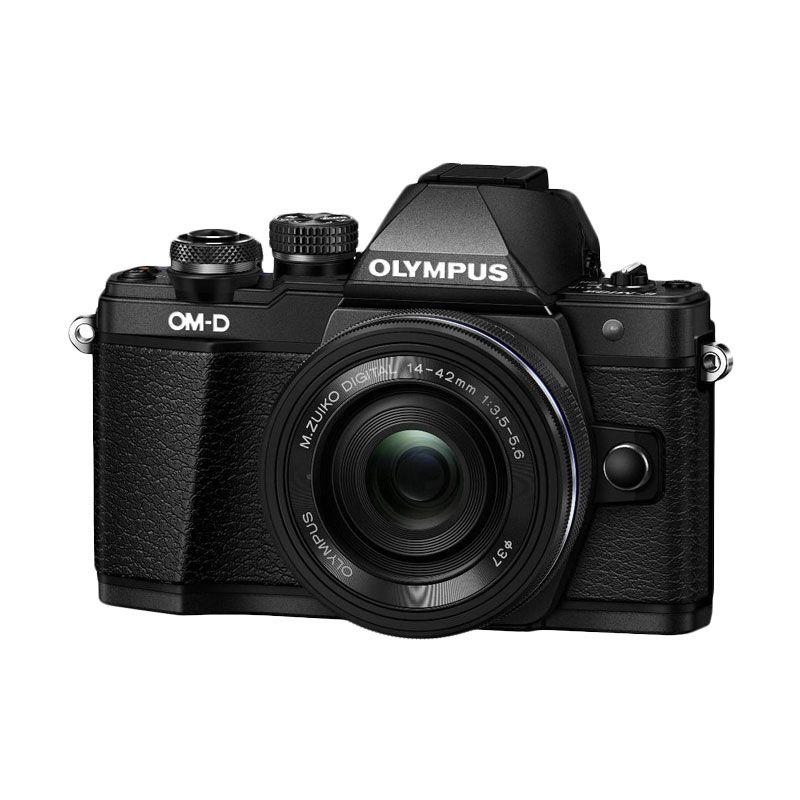 Olympus Digital Camera OM-D E-M10 Mark II with 14-42mm EZ Black + Olympus Lens M.Zuiko 17mm F/1.8 Black + SDHC 16GB Class 10