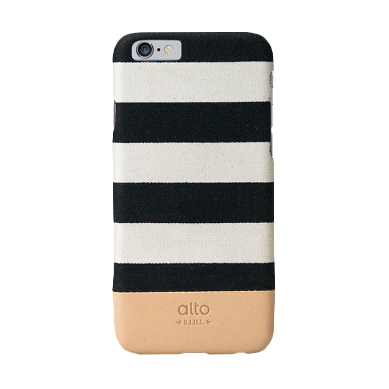 Alto Zebra White Denim Leather Casing for iPhone 6