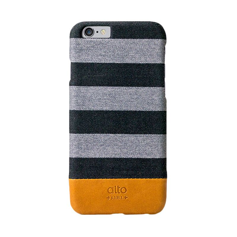 Alto Zebra Plus Grey Denim Leather Casing for iPhone 6