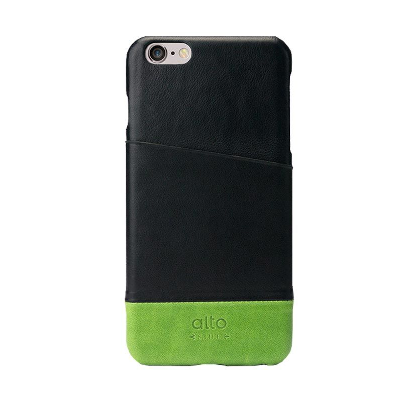 Alto Metro Black Green Leather Casing for iPhone 6