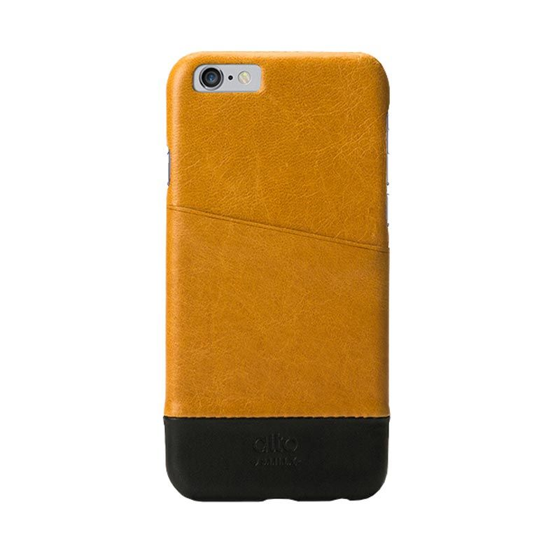 Alto Metro Light Brown Black Leather Casing for iPhone 6