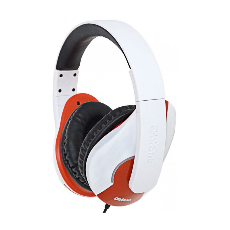 Oblanc Stereo with In-line Microphone & Call Control SHELL200 NC3-1 White Headphone