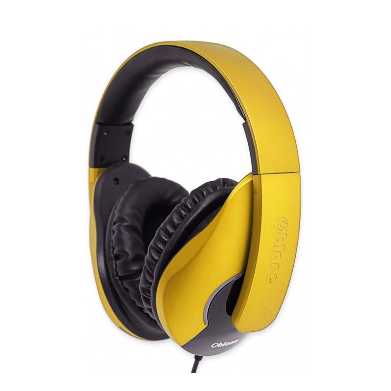 Oblanc Stereo with In-line Microphone & Call Control SHELL200 NC3-1 Yellow Headphone