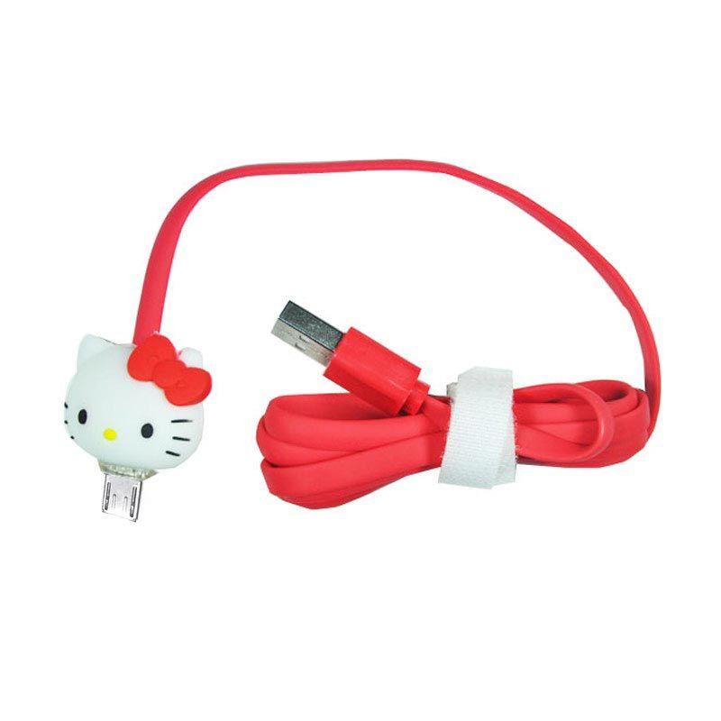 OptimuZ LED Hello Kitty Merah USB Data Cable