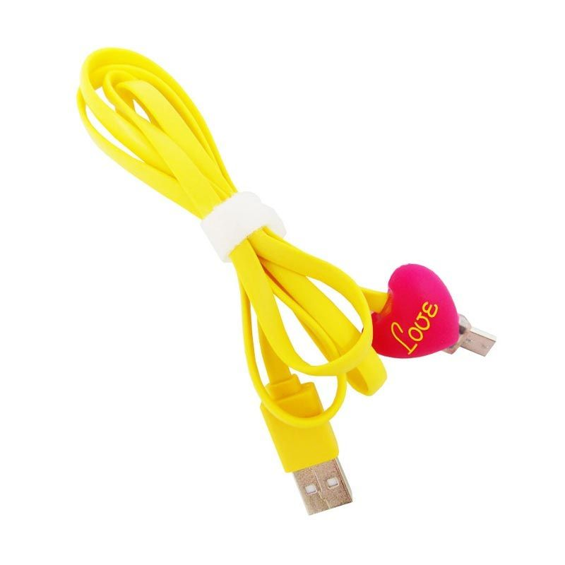 OptimuZ LED Love Doll Yellow USB Data Cable