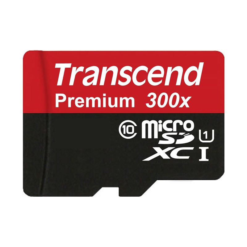 Transcend 300x MicroSD Hitam Memory Card for Kamera [45 mbps/8 GB]