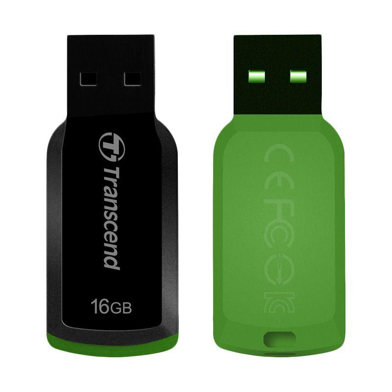 Transcend JetFlash 360 Hijau Flashdisk [16 GB]