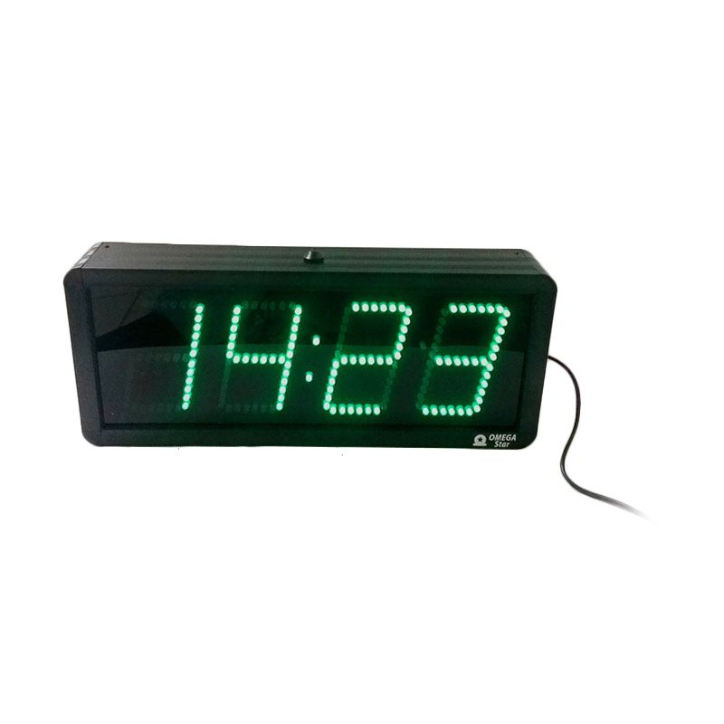 OMEGA STAR LED Active Temperature Green Jam Digital [4 Inch]